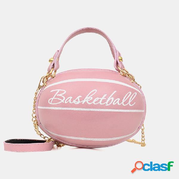 Bolsa feminina de basquete futebol bolsa crossbody bolsa