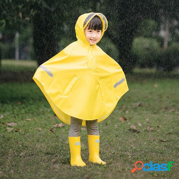 Capa de chuva infantil original para meninas poncho à prova d'água com faixa reflexiva 3m