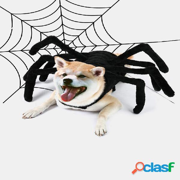 Animal de estimação halloween engraçado aranha peito voltar criativo gato cachorro pequeno cachorro traje de transformaç