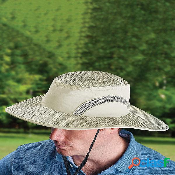 Protetor solar resfriamento chapéu calota de gelo balde de proteção contra insolação chapéu sun chapéu com uv proteção p