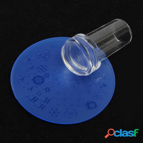 3pcs / kit diy nail art stamp stencil stamper scraper design carimbo de modelo de impressora de imagens