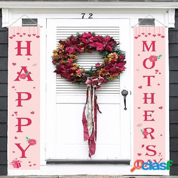 Banner feliz dia das mães quintal interior decoração festa ao ar livre decoração porta cortina festival atmosfera banner