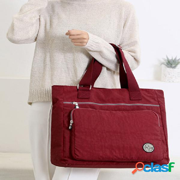 Bolsa de ombro casual alça de ombro ajustável bolsa de grande capacidade nylon leve mamãe grande bolsa