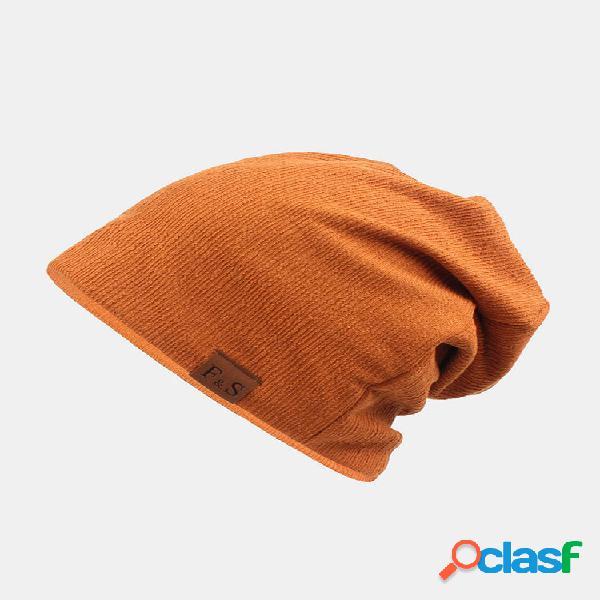Unissex engrossado inverno manter quente boné de lã sem borda cor sólida malha chapéu gorro chapéu
