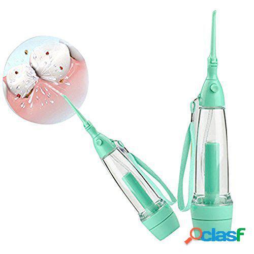 Portátil cuidados dentários jato de água verde flosser irrigador oral flosser toothbrushes água flosser
