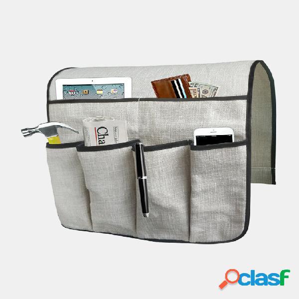 Armazenamento bolsa sofá controle remoto telefone sofá cadeira apoio de braço armazenamento caixa organizador diversos r