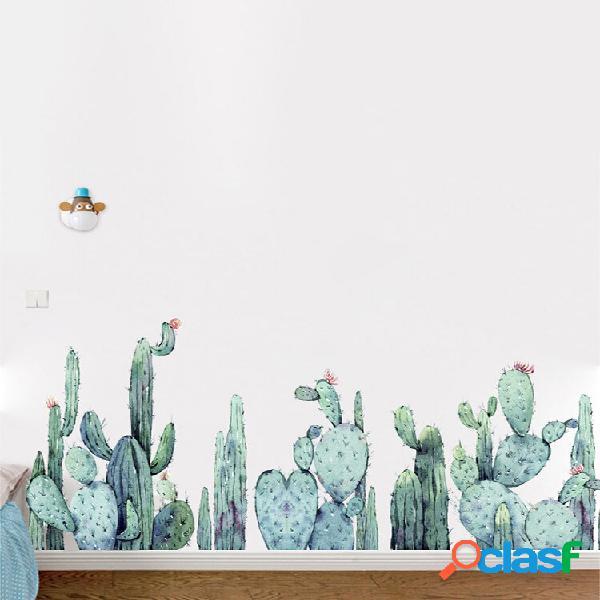 Miico 2 pcs adesivos de parede dos desenhos animados plantas de cacto impressão adesivo quarto de crianças decoração do
