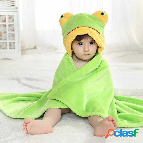 Animal fofo desenho animado bebê infantil embrulho parisarc soft cobertor de flanela edredom roupão de banho