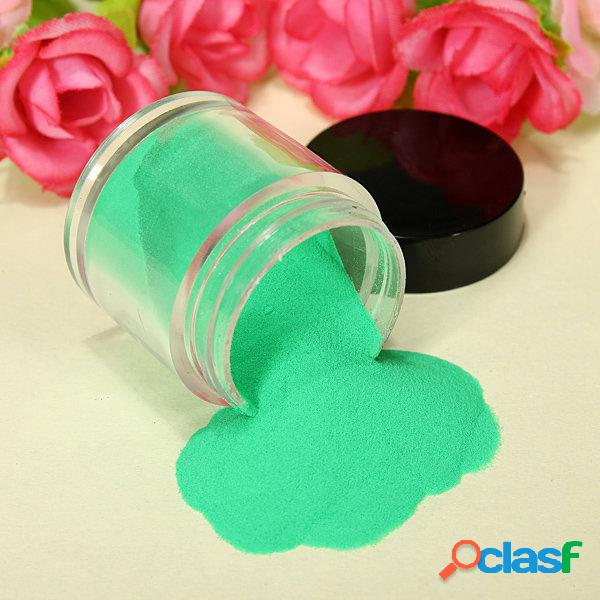 18 cores de acrílico uv powder dust glitter polish nail art set