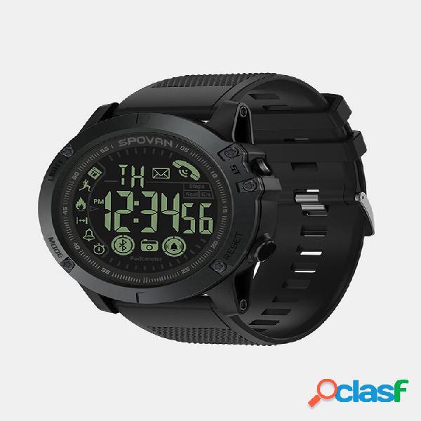 Casual bluetooth 4.0 com tela luminosa para monitor esportivo câmera remoto pulseira masculina impermeável relógio intel
