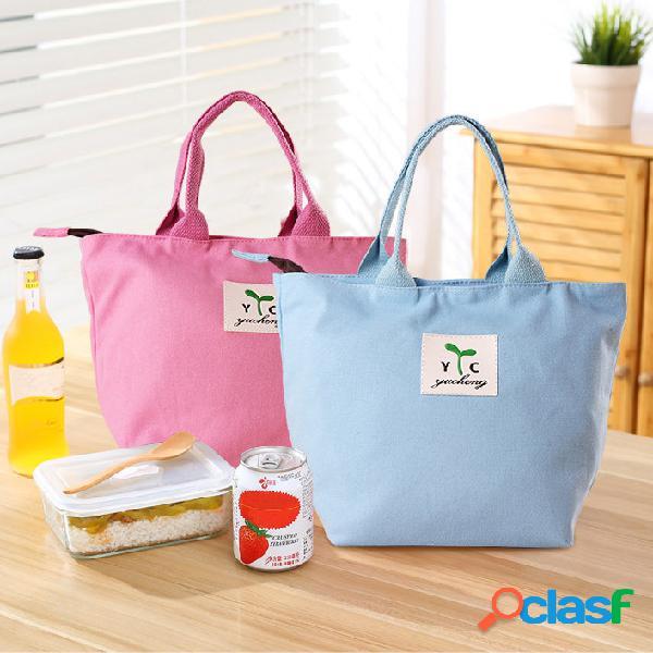 Honana cf-lb080 mulher senhora mãe almoço tote bag travel picnic handheld food storage holder container