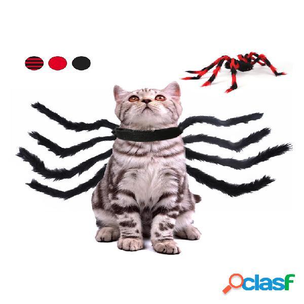 Animal de estimação halloween aranha peito de volta criativa gato cachorro pequeno cachorro traje de transformação de ar