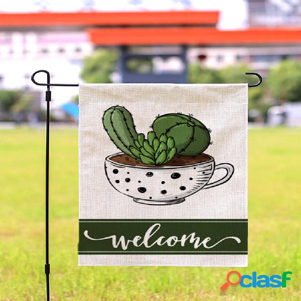 Waterproof plants pattern series banner gardendecor holiday happy spring summer welcome garden flag