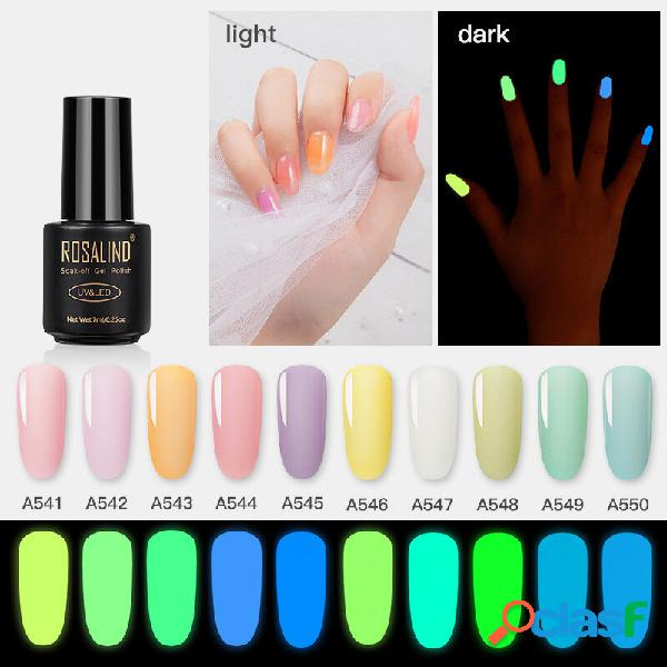 7ml unhas manicure em gel luminoso brilho cola fluorescente diy unhas art gel polish