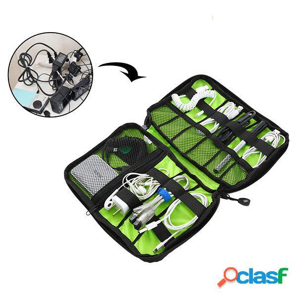 Honana hn-cb2 saco de armazenamento à prova d'água eletrônico organizador de acessórios eletrônicos travel carry case
