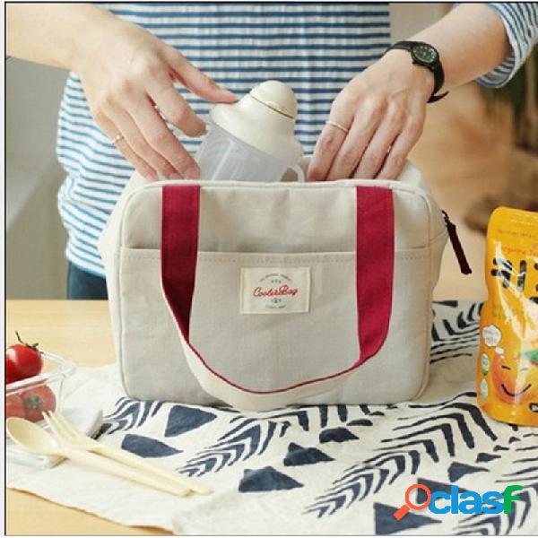 Honana cf-lb022 sacola de almoço refrigerada isolada travel picnic handbag zipper storage containers