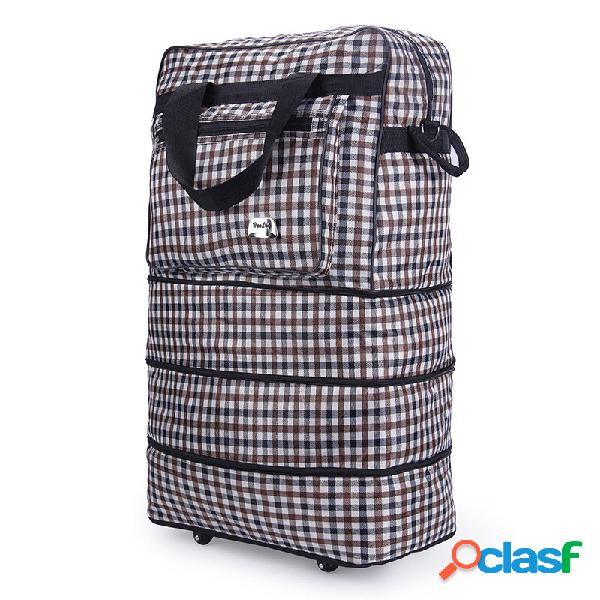 Honana hn-tb36 bolsa de armazenamento de viagem expansível para rolagem de peso leve rolling whealed suitcase