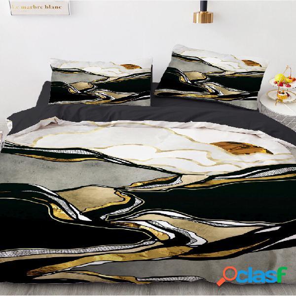 Conjunto de roupa de cama 3d landscape conjunto de capa de edredom conjunto de cama com colchão duplo king queen size re
