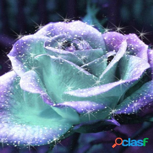 20 pçs / set rosa fluorescente sementes raro rosa planta casa jardim flor rosa