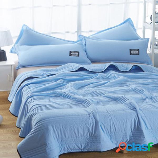 Ar condicionado de algodão lavado, edredom de seção fina, núcleo único pode ser lavado na máquina de cor sólida de verão