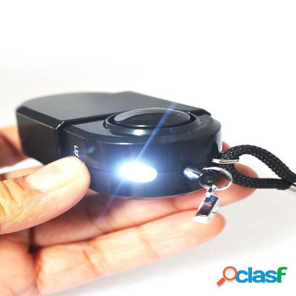 Camping travel portable mini pir movimento infravermelho sensor detector de alarme 120db sistemas de segurança residenci