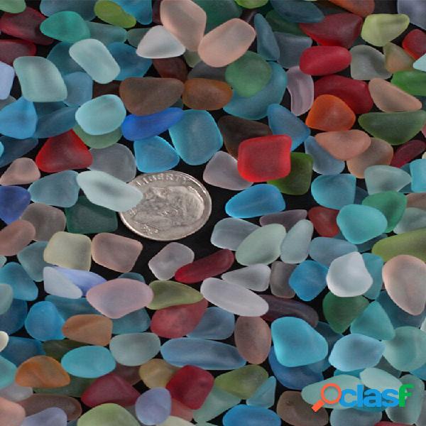 20 peças de vidro flat bead aquarium vase decorações sea beach glass mixed color home decor