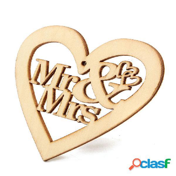 10 unidades de madeira natural coração laser formas cortadas enfeites artesanais lembranças de casamento