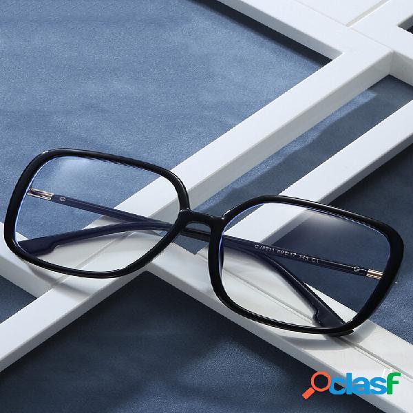 Armação de óculos anti-azul masculino óculos espelho plano quadrado óculos feminino leopardo miopia