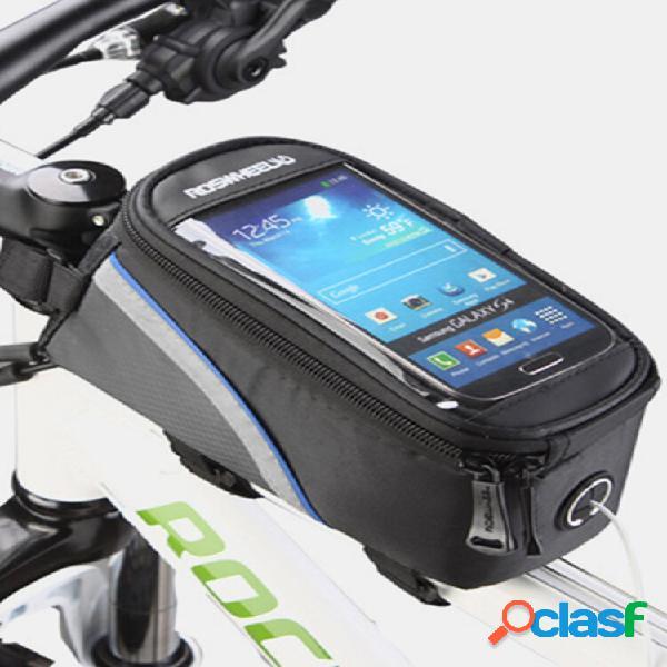 Telefone da tela de toque da bicicleta bolsa bolsa telefone de toque da equitação bolsa 5,7 polegadas