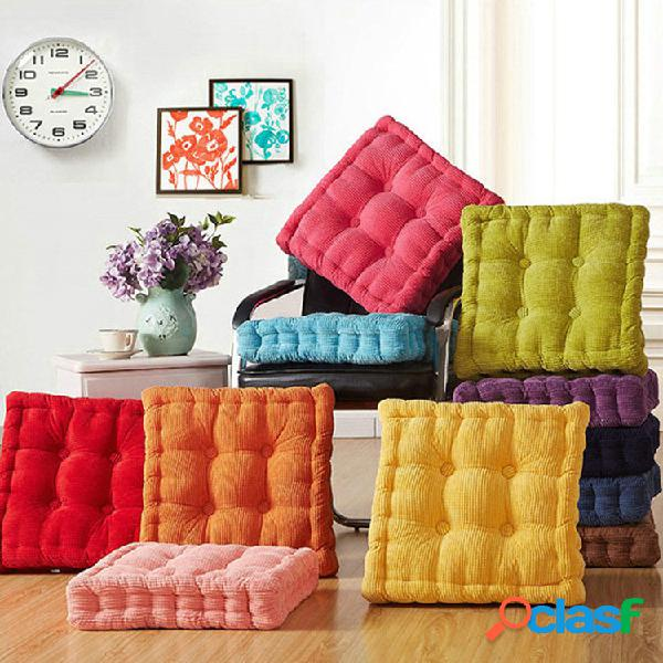 Almofada de assento de veludo tatami lavável de veludo cotelê 40/45 / 50cm xadrez quadrada de inverno quente almofada pa