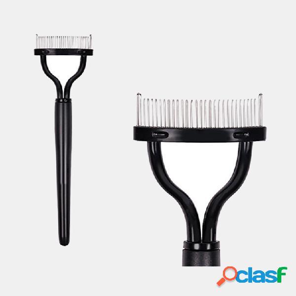 Portable eyelash curler separator foldable eyelash brush comb mascara curl beauty makeup tool