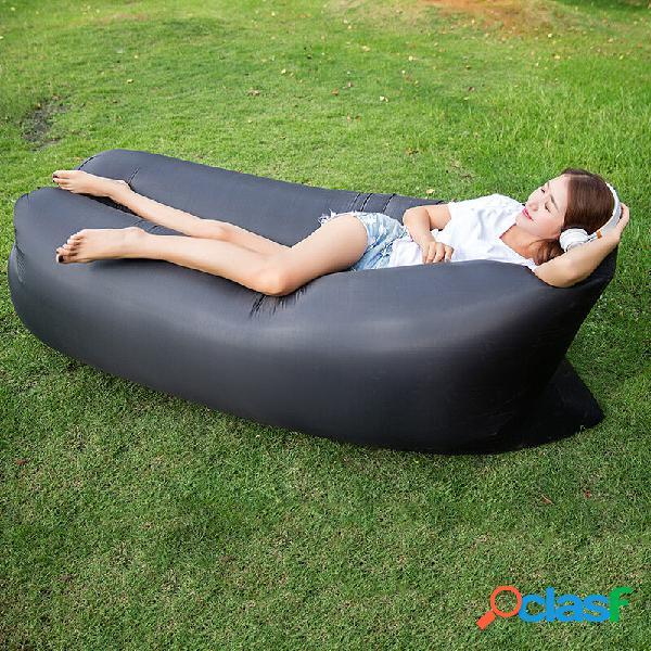 Travel praia sofá preguiçoso fast air inflável cama de dormir espreguiçadeira camping lay bolsa reclinável