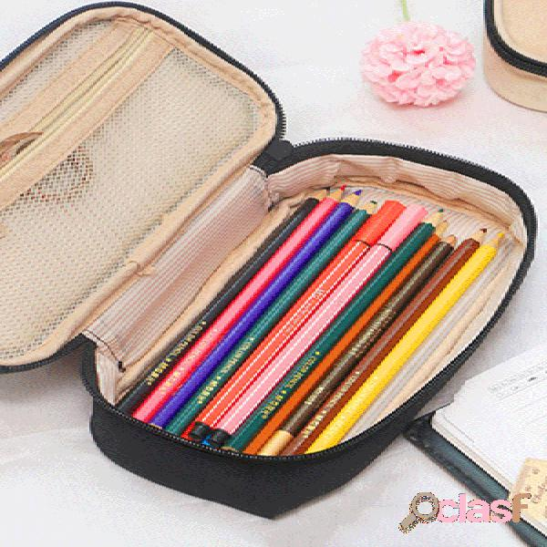 Honana hn-1027 viagem cosmetic bag makeup cable organizador sacos de armazenamento lápis caso