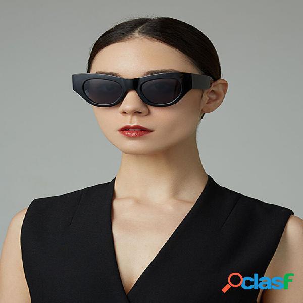 Moda casual feminina moda clássica casual uv proteção óculos de sol em formato redondo