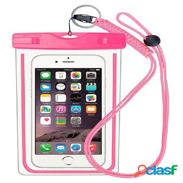 Desbloqueio de impressão digital telefone celular bolsa ipx8 água à prova d'água bolsa