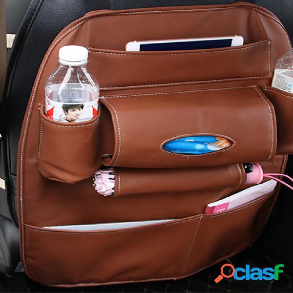 Cadeira de couro para armazenamento traseiro bolsa conjunto para carro multifuncional caixa parte traseira bolsa suspens