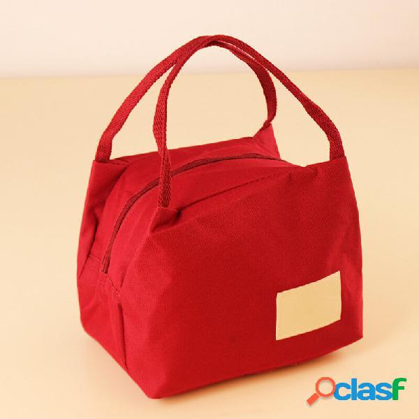 Kcasa kc-lg013 sacola impermeável oxford lunch tote bag travel picnic food storage organizer