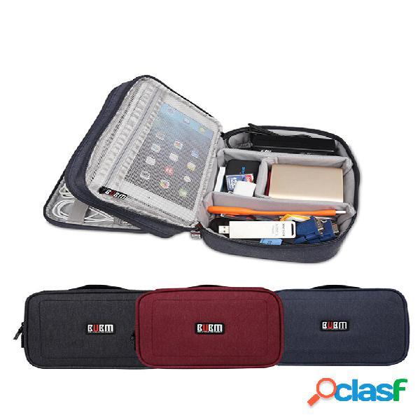 Carry de camada dupla bubm dps-s caso acessórios eletrônicos organizador de cabos armazenamento de cabos de dados bolsa
