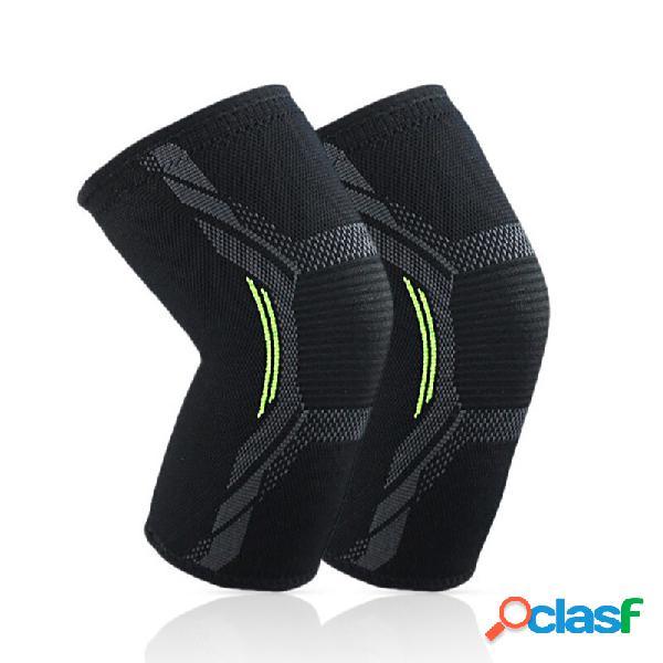Nylon academia exercício joelheira elástica respirável aptidão suporte de joelho suporte esportivo brace