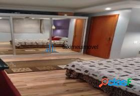 Excelente apartamento de 1 dormitório, sala, cozinha, banheiro, área de serviço.