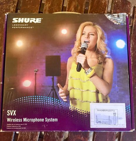 Microfone sem fio shure svx24br / pg28-p12