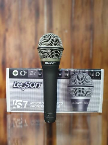 Microfone leson ls7 c/fio novo / somos loja