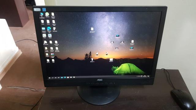Monitor 20 lcd aoc 2016swa widescreen vga preto