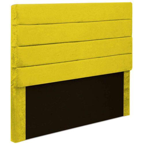 Cabeceira box king size monte carlo 1,95 m suede amarelo