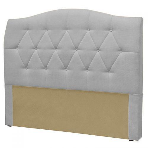 Cabeceira cama box casal 140 cm col/u00f4nia linho cinza -