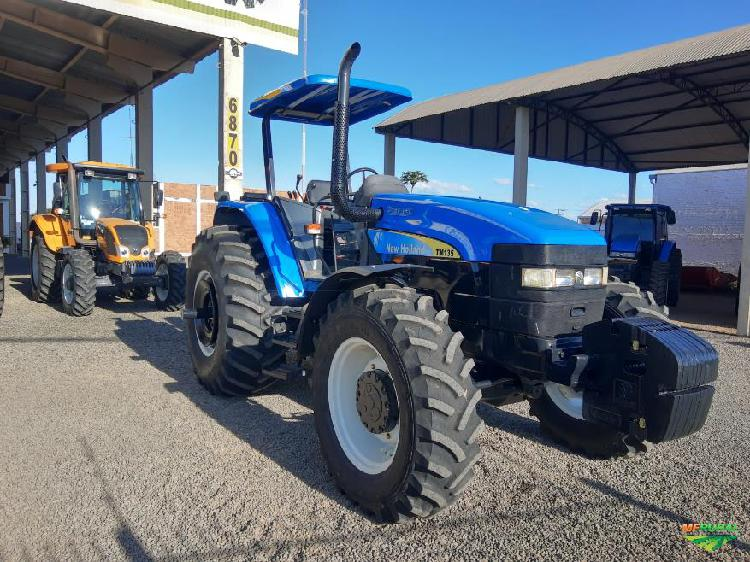 Trator new holland tm 135 4x4 ano 07