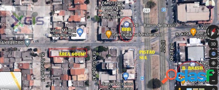 Vende terreno de 600 m² ótimo ponto - taguatinga sul/df