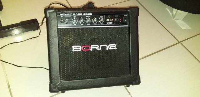 Amplificador cubo borne cb30 15w impact bass