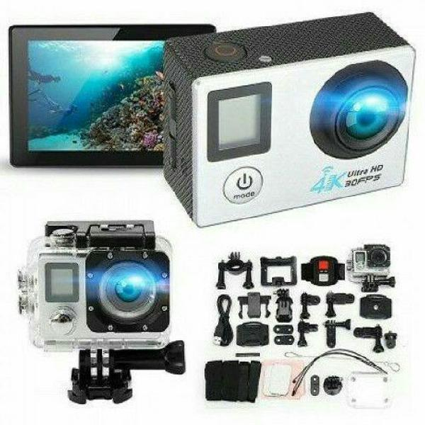 Câmera filmadora esportiva prova dágua action 4k 30fps