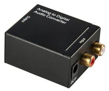 Conversor de áudio analógico p/ digital coaxial toslink
